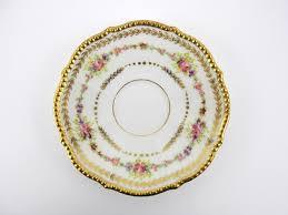 limoges elite works patterns vintage trinket dish higgins and seiter saucer limoges china