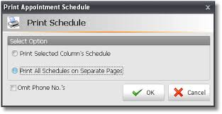 Schedule To Print Envision Users Guide Printing Appointment Schedules