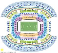 Dallas Cowboys Stadium Concert Seating Chart At T Stadium Seating Chart Arlington