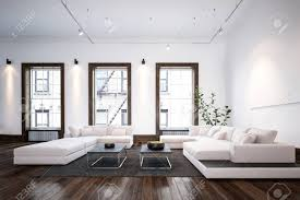 stylish designs living room. Modern Minimalist Designer Living Room Interior With Stylish Large Sofas And Tables On A Wooden Parquet Designs
