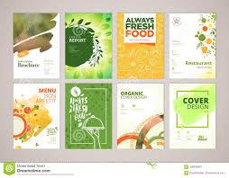 Menu Presentation Design Set Of Restaurant Menu Brochure Flyer Design Templates In