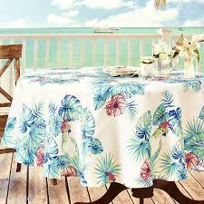 bird in paradise indoor outdoor 70 round tablecloth