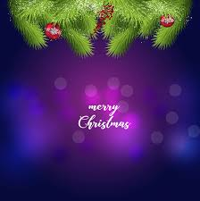 Purple Christmas Card Blue And Purple Christmas Greetings Card Template Vector