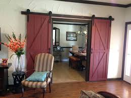 Sliding Barn Door Track And Rollers Double Hardware Living Cabinet ...