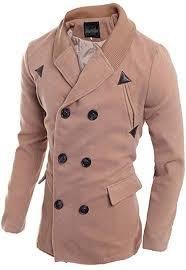 bobolily men s fashion knit stitching notched lapel double ted trench coat long coat jacket winter overcoat