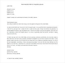 Letter Of Recommendation For Adoption Sample Mple Immigration Letter Of Recommendation For A Friend Reference