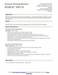 personal training director resume