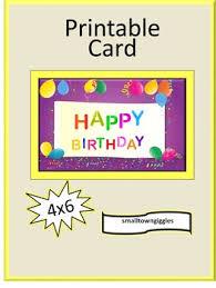Birthday Printable Cards Birthday Cards For Students Balloons Theme Birthday Card Printable