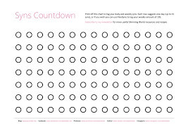 Slimming World Weight Loss Chart Free Slimmingworld Printables Syns Countdown Chart