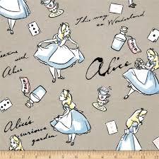 Best 25+ Disney fabric ideas on Pinterest   Disney phone wallpaper ... & Disney Flannel Alice In Wonderland Grey from @fabricdotcom From Disney for  Camelot Fabrics, this Adamdwight.com