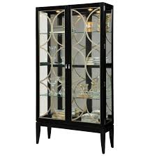 Glass Curio Cabinets With Lights Oxford Black Corner Curio Cabinet With Light Best Home Furniture