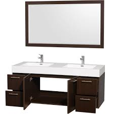 double vanity with top. Wyndham Collection Amare 72 Inch Double Bathroom Vanity In Grey Oak With Acrylic-Resin Top, Integrated Sinks, And 70 Mirror - Sinks Amazon.com Top
