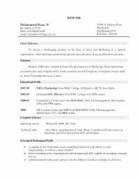 Sample Resume Objective Statement Inspirational Cover Letter Sales