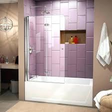 shower doors bathtub trackless sliding for tubs frameless bypass tub vanity bathtu