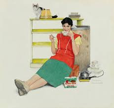 Rockwell Norman Graphic Design Illustration The Red List