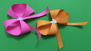How To Make An Easy Beautiful Origami Paper Bow Tutorial Ribbon Origami Bow Folding Instructions