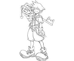 Small Picture Free Coloring Pages Kingdom Hearts 2 Coloring Pages