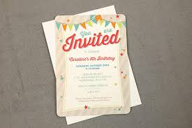 8th Birthday Party Invitations Colorful Stars And Banner 8th Vintage Birthday Party Invitation With