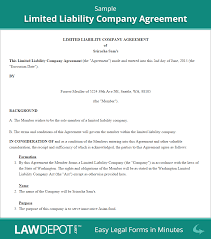 Business Operating Agreement LLC Operating Agreement Template US LawDepot 2