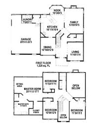 two story house plans with master bedroom on ground floor lovely 4 bedroom 2 story floor
