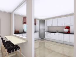 kitchen design idea white kitchen with large pass through window and counter height bar