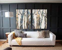 extra large wall art diptych set