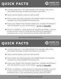 health first colorado top five questions card black white