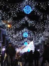 Christmas Lights In Venice Saint Marks Square Venicestudents