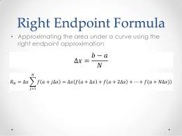Endpoint Formula Approximating Area