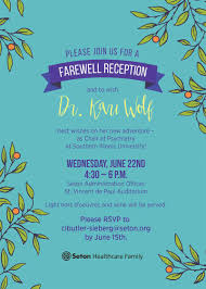 Farewell Reception for Dr. Kari Wolf - June 22