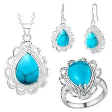 <b>Thick silver jewelry</b> of new fashion lace Turquoise suit the United