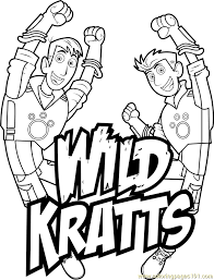 Small Picture Wild Kratts Logo Coloring Page Free Wild Kratts Coloring Pages