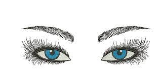 Eyes Embroidery Design Woman Eyes Embroidery Design Glamorous Make Up Eyes
