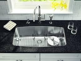 undermount stainless steel kitchen sink image