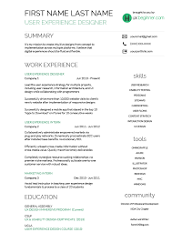 Leonardo Da Vinci Resume Amazing UXBeginnerResumeTemplate Resume In 48 Pinterest Template