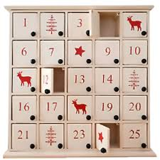 advent calander white wooden nordic advent calendar box partyware essentials