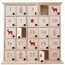 white wooden nordic advent calendar box
