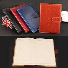 2019 vintage design a5 personal business planner notebook pu leather hard cover diary notebooks notepads school office supplies from fahome