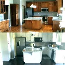 cost to paint cabinets kitchen with how much does it wood