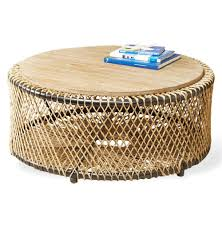 kathy kuo home regarding preferred round woven coffee tables gallery 15 of 20