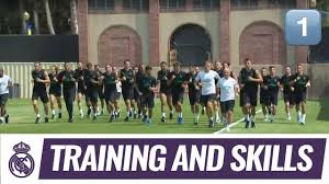 Real Madrid squad complete first training session at UCLA - YouTube