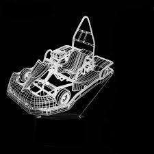 Go Kart Lights Hiojdwa Night Light Led 3d Go Kart Modelling Night Lights