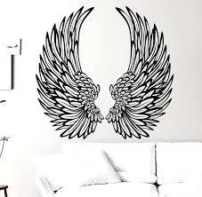 angel wing wall decor art decoration angel wings wall art decal nursery bedroom home window decor angel wing wall decor