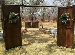 wooden doors for outside chapel r1500