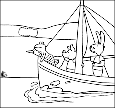 Kleurplaat Vervoer Boot Kikker Max Velthuijs Kikker Frog