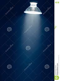 Halogen Lamp With Reflector Blue Light In Haze Stock Photo Image