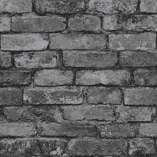 cool brick wall paper new trends brewster fd31284 rustic wallpaper silver black co uk b q bedroom next homebase australia home