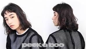 黒髪暗髪でも重くならないあか抜けミディアムヘア8選peek A Boo