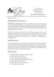 Resume For Server Job Job Description Samples For Resume Server Example Dining Room Sample 16
