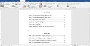 Easiest Way To Create List Of Tables And Figures In Microsoft Word